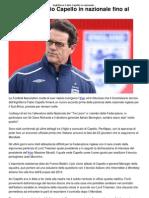 a Fabio Capello in Nazionale Fino Al 2012 _ CalcioLine
