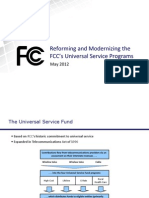 Reforming and Modernizing the FCC's Universal Service Programs