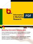 Chapter 6 Information System & Marketing Research-Marketing Management