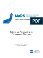 Bottom Up Forecasting for Pre Revenue Start Ups