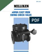 Milliken AWWA Swing Check Valve