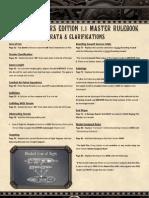 Dw Rulebook 1 1 Errata Clarifications
