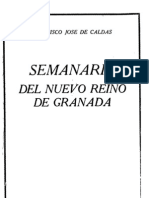 Caldas, Francisco José de. Semanario del Nuevo Reino de Granada, tomo I