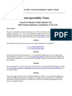 Interoperability Notes Oracle EBS 11i With Oracle Database 11gR2