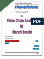 Value Chain Analysis of Maruthi Suzuki
