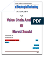 Value Chain Analysis of Maruthi Suzuki