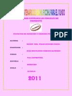 Actividad Nº 15; II Informe de pastoral universitaria