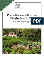 Private Gardens of Bethesda 2012