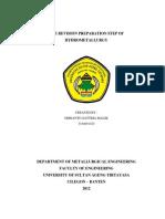 The Revision Preparation Step of Hydrometallurgcal