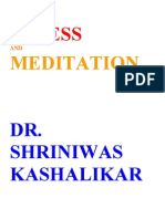 Stress and Meditation Dr Shriniwas Kashalikar