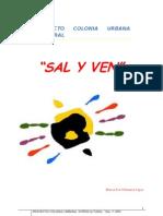 Proyecto Educativo Colonia Urbana[1]