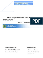 A Mini Project Report on Fiancial Management