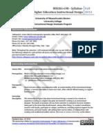INSDSG 698 - Internship Syllabus