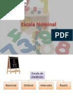 1 Escala Nominal MIERCOLES