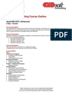CADsoft Consulting Course Outline - AutoCAD 2012 Advanced