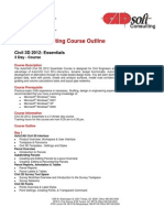 CADsoft Consulting Course Outline - Civil 3D 2012 Essentials