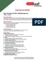 CADsoft Consulting Course Outline - Revit Architecture 2012- BIM Management
