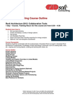 CADsoft Consulting Course Outline - Revit Architecture 2012 Collaboration Tools