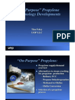 On Purpose Propylene Production UOP