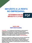 Determinación del Impuesto a la Renta