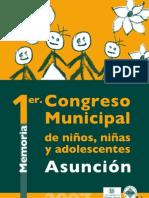 Memoria 1er. Congreso Municipal de NNA Asunción