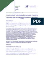 Constitucion Republica Bolibariana Venezuela