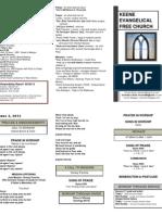 Church Bulletin -June 3rd