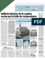 Edificios ilustres de la capital, vacíos por la falta de compradores (20Minutos - 31/05/2012)
