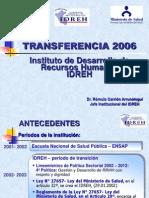 Idreh Transfer en CIA Final