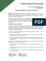COM 2012-05-31 Tunnel Ville-Marie Inondation VF