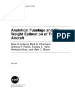 Analytic Wing and Fuselage