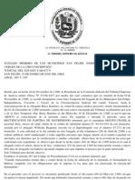 TSJ Regiones - Decisión