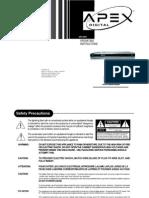 Manual Apex Dvd Drx-9000