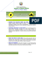 DND-OPA - Safety Tips During Typhoon and Flood - 1 June 2012