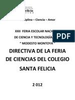 Directiva Feria de Ciencias 2012