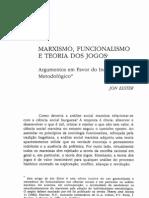Jon Elster - Marxismo, Funcionalismo e Teoria Dos Jogos (1982)
