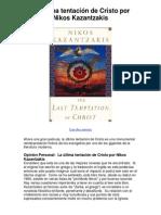 La última tentación de Cristo por Nikos Kazantzakis - 5 estrellas reseña del libro