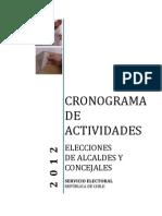 Cronograma Electoral 2012
