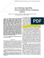 2009 - Distance Relaying Algorithm Using a DFT-Based Modified Phasor Estimation