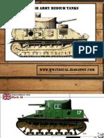 British Army Medium Tanks