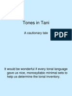 Tones in Tani
