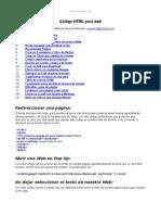 Codigo HTML Web