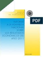 BCV informe asamblea nacional año 2011