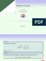 Clase 11-Multiplicadores de Lagrange