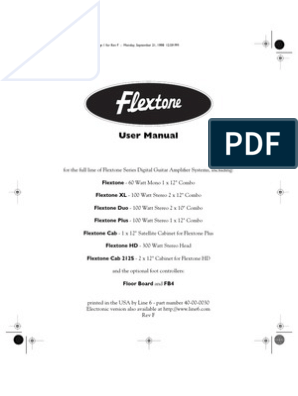 Flextone User Manual - English | Amplifier | Ac Power Plugs ... on