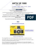 Exakta VX 1000 Instruction Manual, User Guide