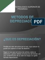 METODOS DE DEPRECIACÓN