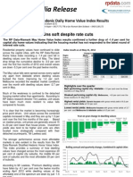 Rpdata Rismark Home Value Index 1june 2012