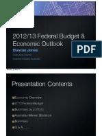SIA 2012 Budget Update