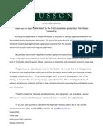husson practicum letter 2012